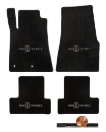 2011 2012 GT-500 & Mustang 4pc Black Classic Floor Mats - Shelby Cobra Logos