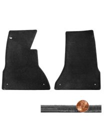 1953-1962 C1 Corvette 2pc Black Velourtex Front Driver & Passenger Floor Mats