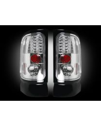 1994-02 Dodge Ram Rear Brake & Reverse White Clear Taillights w/ Brake LED Bulbs