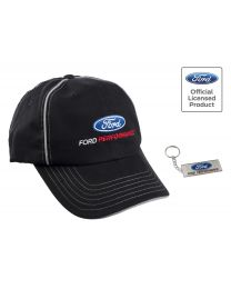 2016-2017 Shelby GT350 F150 Raptor Ford Performance Black Hat Cap & Keychain