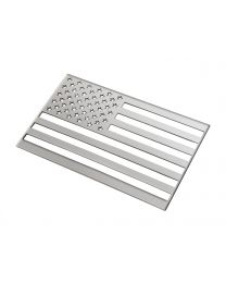"American Flag Fender Tailgate Emblem Polished Stainless 6"" x 3.75"""