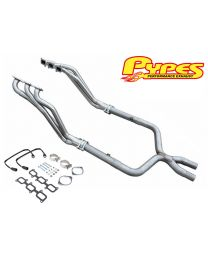 "2011-2014 Ford Mustang V6 3.7 Pypes 3"" Long Tube Exhaust Headers w/ X-Pipe"