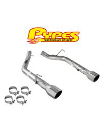 2005-2010 Mustang GT PYPES Stainless Steel Muffler Delete Axle Back Kit SFM62SS