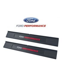 2015-2019 Mustang Ford Performance Inside Lower Door Sill Step Plates Pair
