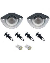 1994-04 Mustang Rear License Plate Light Lenses Covers w/ 194 LED Bulbs Hardware