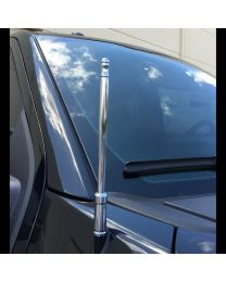 "Chrome Billet 8"" High Gain Radio Antenna Ford Chevy GMC RAM Truck RECON"