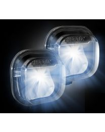 2011-2016 Ford Super Duty Direct Fit Smoked CREE LED Lower Fog Lights Lamps Pair