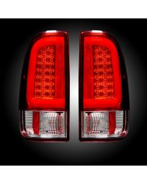 1997-2003 Ford F150 Truck RECON 264292BK Red LED Rear Tail Lights Pair