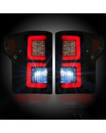 2015-2017 Ford F150 Truck RECON 264268BK Smoked LED Rear Tail Lights Pair
