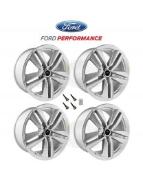 "2015-2019 Mustang Genuine Ford Performance Pack 19"" x 9"" Silver Wheels, TPMS Kit"