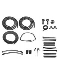 1985-1986 Mustang Convertible Weatherstrip Rubber Seal Kit 25pc - Ford Licensed