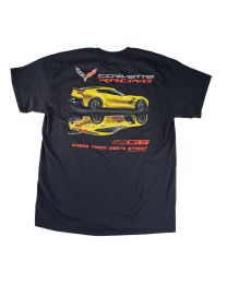 2015 2016 2017 Corvette Racing C7R Z06 Where Track Meets Street Black Shirt XL