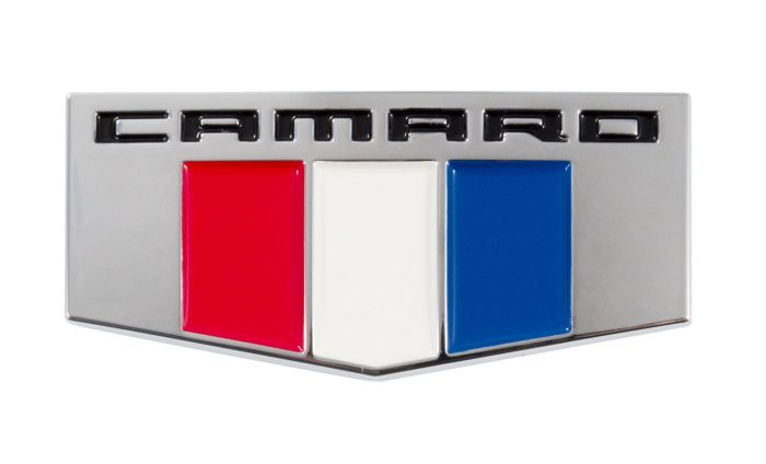 2010 OEM Chevy Camaro Chrome /& Red SS Exterior Trunk or Grille Emblem 92228475